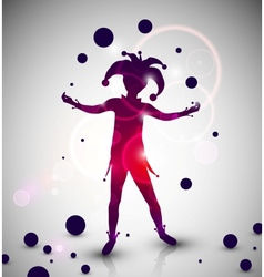Jester juggler vector image
