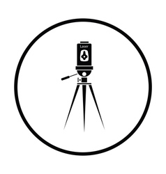 Laser level tool icon vector