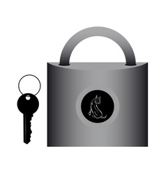 Lock for doors vector