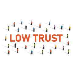 Low trust society community with truthful vector