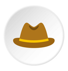 man hat icon circle vector image