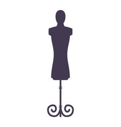 mannequin black monochrome silhouette icon vector image