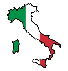 Map in colors of italy vector