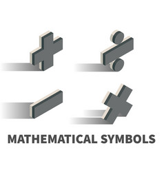 mathematical symbols icon symbol vector image