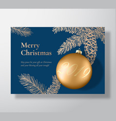 Merry christmas abstract greeting card vector