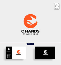 Minimal c letter initial hand logo template icon vector