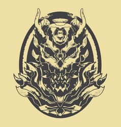 Monster demon stencil vector
