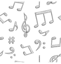 Music signs notes and symbols on white background vector