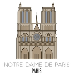 Notre Dame De Paris Pari vector