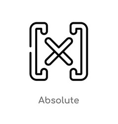 Outline absolute icon isolated black simple line vector