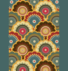 paisley pattern indian art painting and vector image
