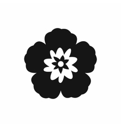 Rose of Sharon korean flower icon simple style vector image