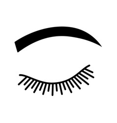 Rounded eyebrow shape glyph icon vector