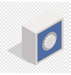 Safety deposit box isometric icon vector