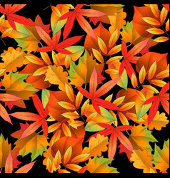 seamless pattern on dark background with red and vector image