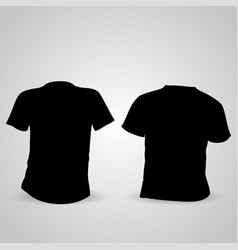 shirt front and back in black on a gray background vector image