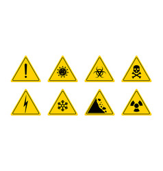 sign danger triangle sign for caution icon of vector image