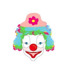 smiling cartoon clown vector image