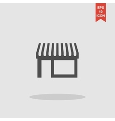 Store icon modern flat design vector image