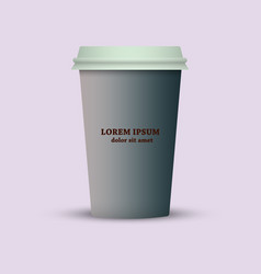 Take out coffee cup icon vector