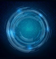 Techno binary code background vector