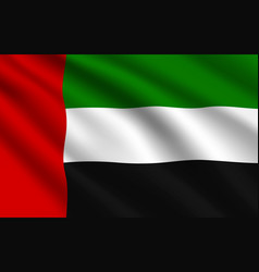 uae flag united arab emirates national identity vector image