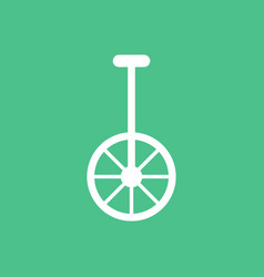 Unicycle one wheel bicycle cartoon flat style vector