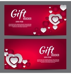 Valentine s Day Heart Symbol Gift Card Love and vector image
