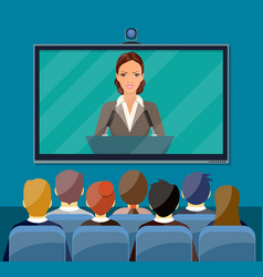 Video conference concept vector