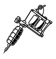 vintage professional tattoo machine template vector image