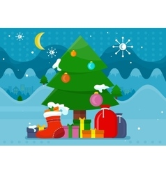 winter holidays concept in flat design vector image