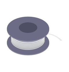 Wire spool icon isometric 3d style vector