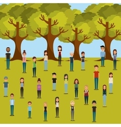 young people design vector image