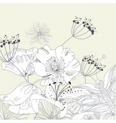 romantic background with flowers vector image vector image