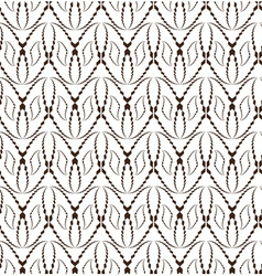 Abstract seamless pattern with face-shape figures vector image