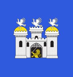 flag of sainte-menehould in grand est is a french vector image