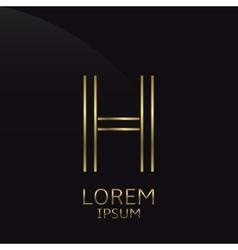 Golden H Letter vector image vector image