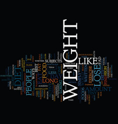 lose weight a few thoughts text background word vector image vector image
