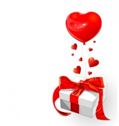 valentine gift vector image vector image