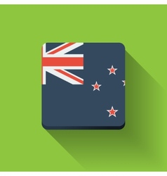 Button with flag of New Zealand vector image vector image