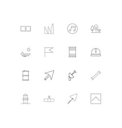 industry simple linear icons set outlined icons vector image vector image