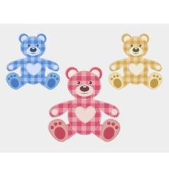 Set of color teddy bear vector image