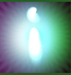 single light blue neon letter i of vector image vector image