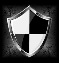 Steel shield vector