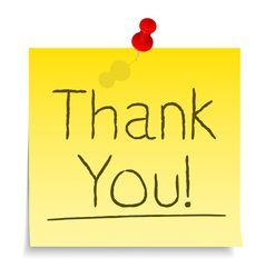 Thank you post-it note vector