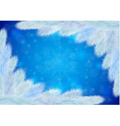 white christmas tree background vector image