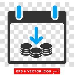 Coins Income Calendar Day Eps Icon vector image vector image