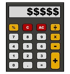 Financial calculator vector image