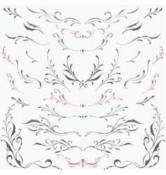 Floral frame and Border Ornaments vector image