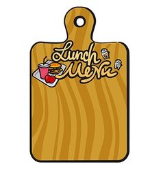 lunch menu vector image vector image